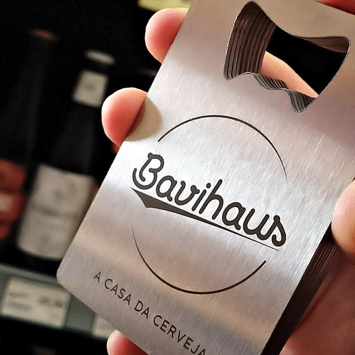 Cartão e abridor de garrafas em inox Bavihaus